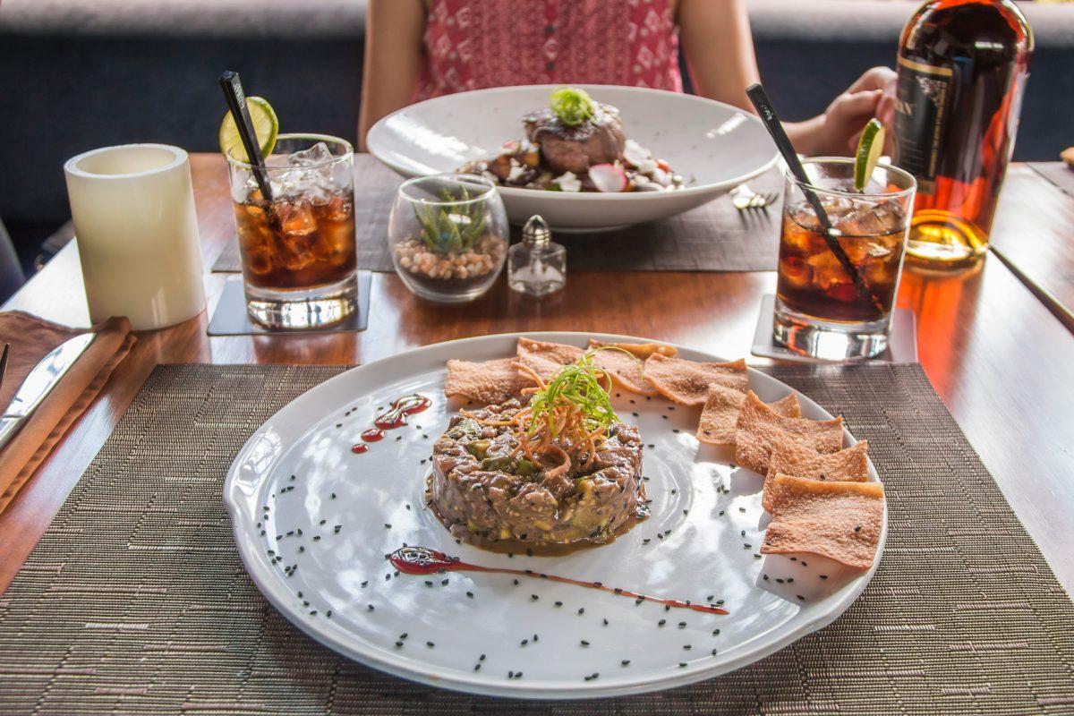 Platillos de Distinto, el restaurante del Chef Sergio Díaz, en Xela