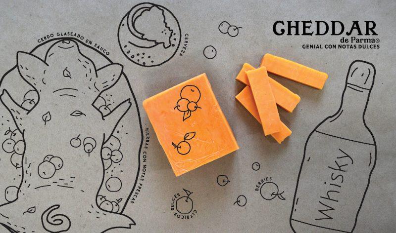 parma-quesos-para-compartir-disfrutar-debora-fadul-foodie-tour-queso-cheddar-notas-dulces-hierbas-frescas-whisky-cerdo-glaseado-sauco-cerveza-citricos-berries