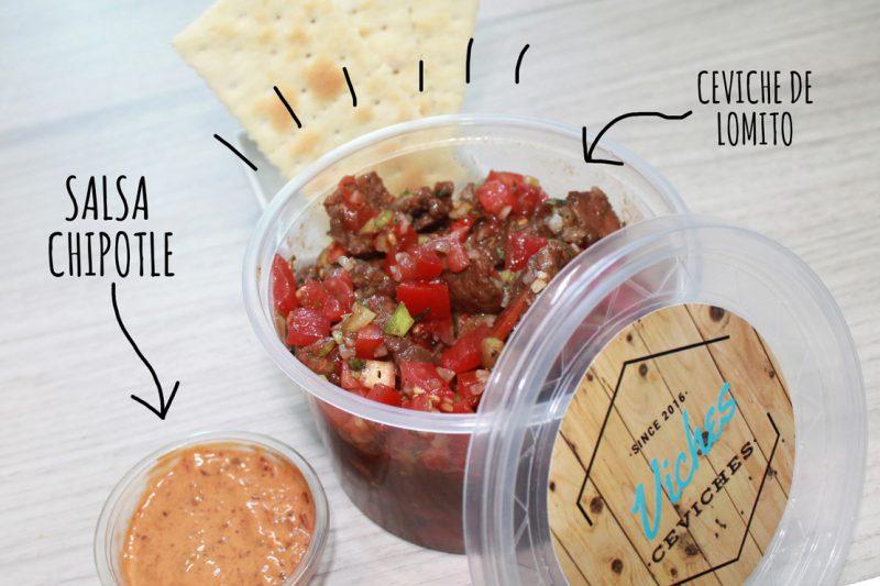 Ceviche de Lomito con salsa chipotle