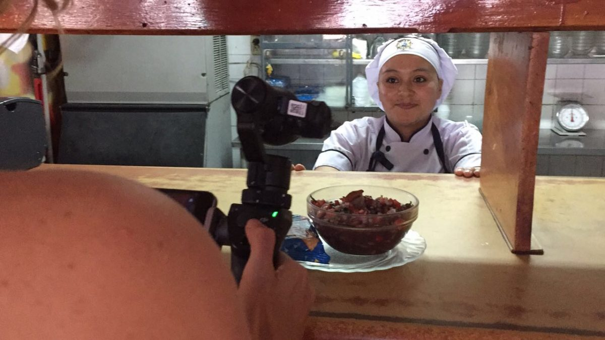 Detrás de cámara: filmando la elaboración del Ceviche de Concha en Ribera del Río