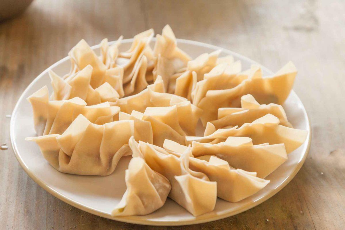 Dumplings antes de cocinar